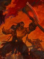 Warlords of Draenor : Gromash hellscream by happykwak
