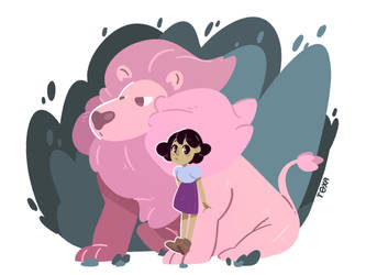connie and lion by Toxandreev