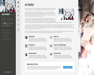 Profiler - vCard Resume Design by templaza