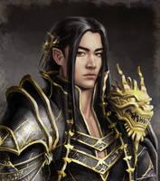 Black-Gold Dragon by Skyrawathi
