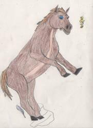 Princess Zelda turns into a Horse 4/5 by goodtimesroll44