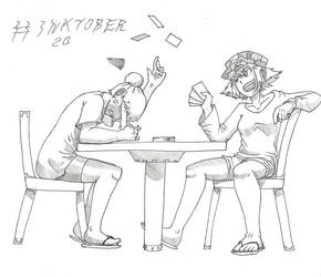 Inktober 20 - Why can't I win? by DeiveEx