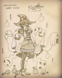 Inktober 30 - Ghost Witch by DeiveEx