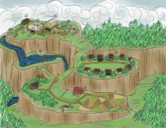 Goldenrod Village Map by XruamarieX