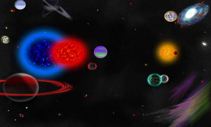 Triple Star system by TheDarkestNight51
