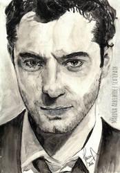 Jude Law | watercolor study by slatepath