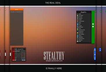 Stealthy Suite Preview (Rainmeter) by Ekojain