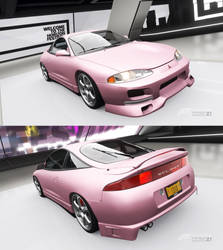 Amy Rose Mitsubishi Eclipse GSX (FH4) by TimeSweepingSpartan