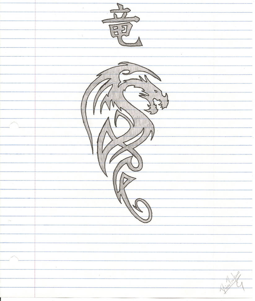Tribal Dragon By Divinesaber On DeviantArt