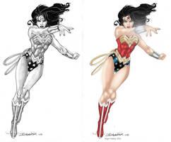 Wonder Woman by Aaron Lopestri by NigelHalsey