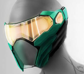 Paintball mask concept by vijil