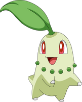 Chikorita HGSS Sprite to Anime by pokesafari