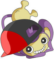 Aipom with Ash's hat by pokesafari