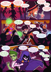 Titans: Refuge in Arkham #32 by samarasketch
