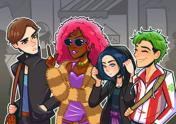 Titans: Day Out by samarasketch