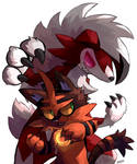 Lycanroc and Torracat by nightsanghaw
