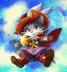 Cait Sith in Boots by nightsanghaw
