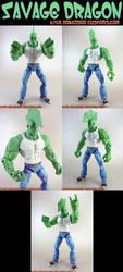 Custom Savage Dragon Figure by KyleRobinsonCustoms