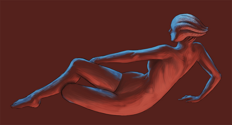 nude study - Liara by itchcrotch