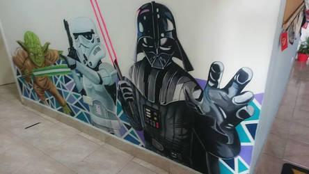 Star Wars Mural by Deleitesemcor