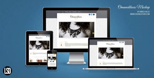 Omanecklaces.com Responsive Mockup by lysergicstudio