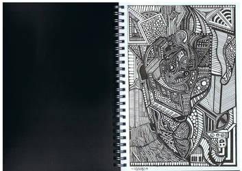 Doodle No.15 ''Organised Disorganism'' by Felderanto