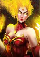 Dota 2 - Lina The Slayer by Arcan-Anzas