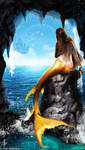 Mermaid and the sea by Arcan-Anzas