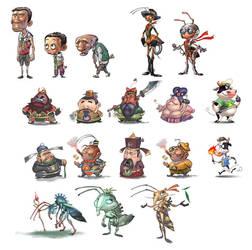 cartoon design by zzjimzz