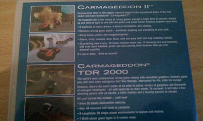 Carma2 + TDR2000 DVD - back by WarriorRazor