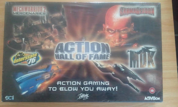 Rare Action Hall of Fame box by WarriorRazor