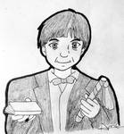 Inktober 2018-Day 3-Second Doctor by Suichi-Ameria