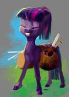 Can't wait for the bell! by WolfieDrawie