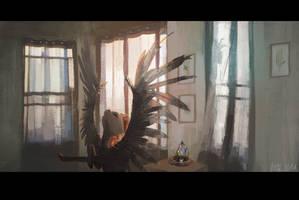 EQD ATG 03 - Waving Goodbye to her Dream by WolfieDrawie