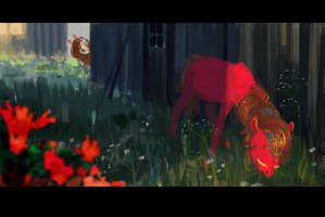 EQD ATG 25 - Stranger in the Backyard by WolfieDrawie