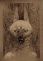 inktober day 02 - Timber Wolf by WolfieDrawie