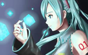 Hatsune Miku (redraw) by Spawn94