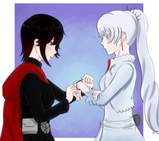 Ruby and Weiss: Friends Inspiring Indipendence by darthmj94