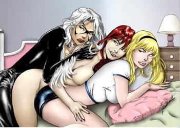Girlfriends Spider-Man by aldirrocha