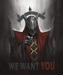 Dark Priest in Uncle Sam style by n-pigeon