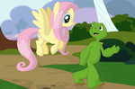 A walk with a naked turtle by Porygon2z