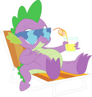 Chillaxing Spike by Porygon2z