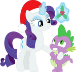 Look who's under the mistletoe, Spike by Porygon2z
