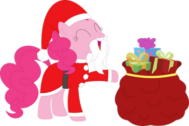 Pinkie Claus has presents for everypony by Porygon2z