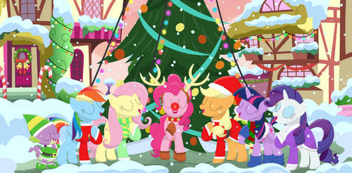 The Christmas carolers of friendship by Porygon2z