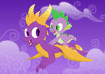 Flight of the purple dragons by Porygon2z