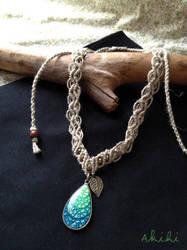Eggshell pendant (no.1) by Akihi