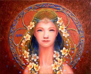 the Maiden of Plumeria by Akihi