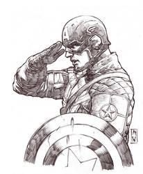 Captain America Sketch by AdmiraWijaya