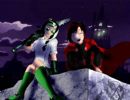 Rwby: Gerda and Ruby night time version by Omnipotrent